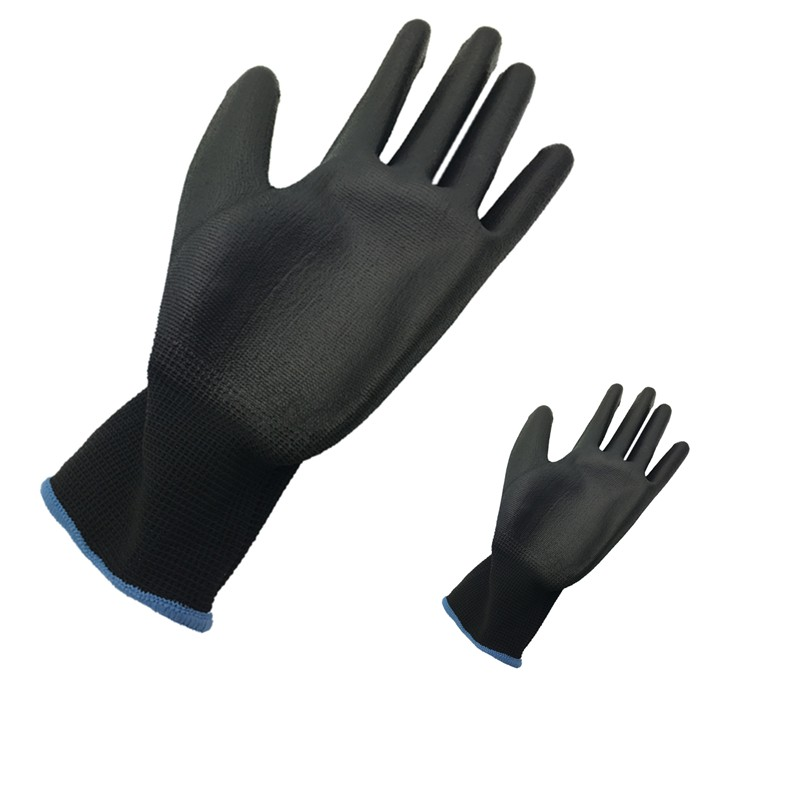 13G black PU Work Gloves Palm Coated ,working gloves,Workplace Safety Supplies,Safety Gloves PU518,guantes trabajo 24pcs=12pairs IMG_1920