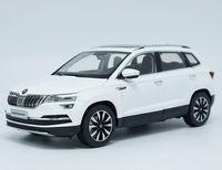 1:18 литья под давлением модели для Skoda KAROQ книжка 2018 белый внедорожник сплав игрушечный автомобиль миниатюрный коллекция