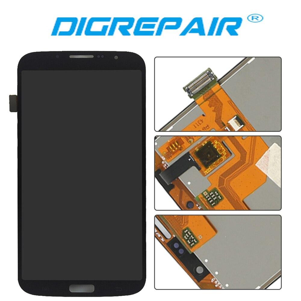 imágenes para Negro Para Samsung Galaxy i9205 i9200 6.3 Mega Pantalla LCD Pantalla Táctil Digitalizador de Reparación de Piezas de Montaje libre del envío + Tracking No
