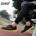ZDRD Новый Дышащая Мужская Повседневная Обувь Узелок Мужские Тренеры Удобные Zapatillas Hombre Корзина Femme Свет Мягкая Прогулки