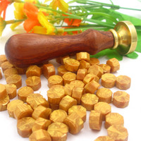 1set One Custom Wax Stamp With 100 Pieces Sealing Wax Particles Hot Wax Granular Use For