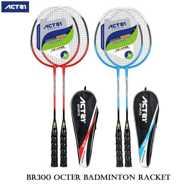 ACTEI  White Black Badminton Racket Iron Alloy One Badminton Racket Set Exquisite And Durable Outdoor Sports