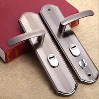 1 Set Practical door handle lock Anti-theft door lock security Dual Latch for Bedroom Bathroom Furniture Gate Lock Accessories