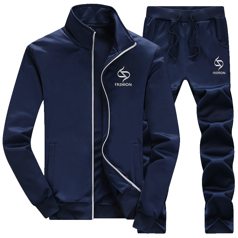 Men's Long Sleeved 2 Piece Athletic Track Suit