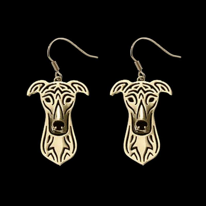 2018 Women Alloy Pet Animal Earrings Jewelry Greyhound Dog Earrings