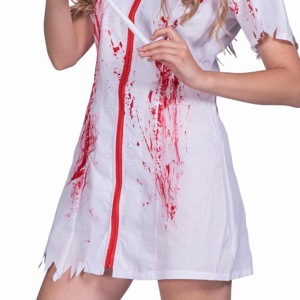 8b838b5b4a6b0 ... Women Sexy Zombie Bloody Stains Nurse Costume Cosplay Dress Party Fancy  Dress for Female Adult Lady ...