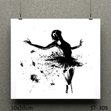 ZhuoAng Ballet design stamp / scrapbook rubber craft clear card seamless