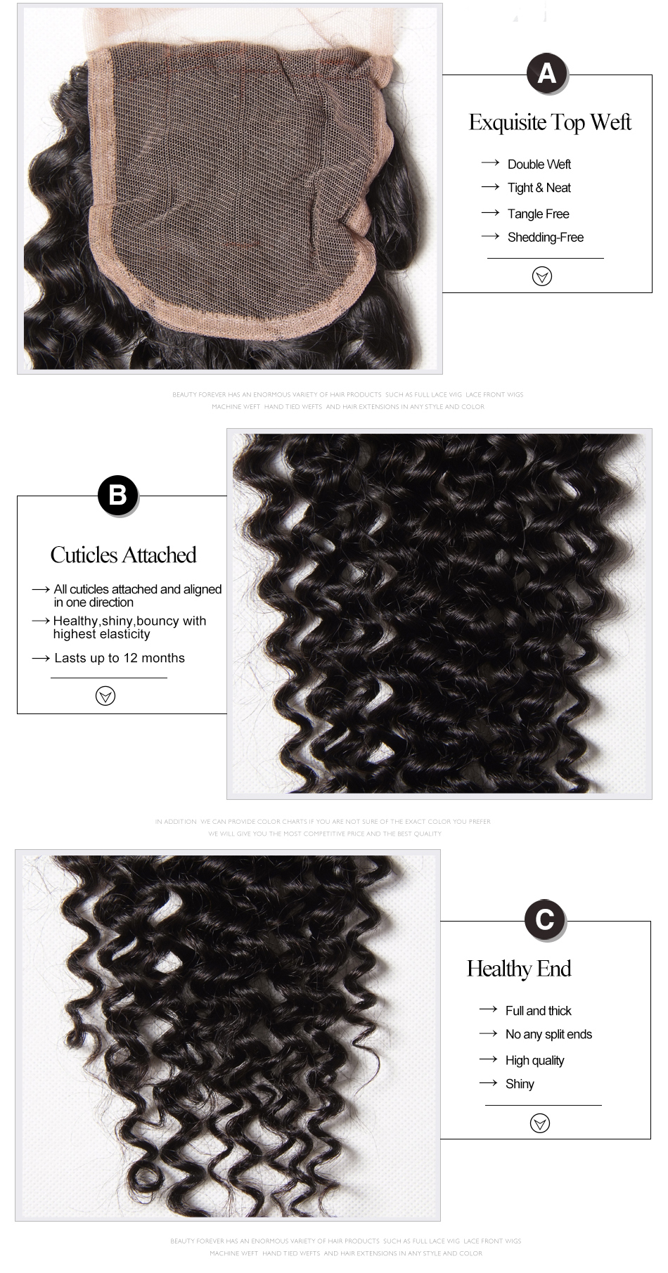 HTB1u9FDd1GSBuNjSspbq6AiipXao Beauty Forever Malaysian Curly Human Hair Bundles With Closure 4*4 Closure Free/Middle/Three Part 100% Remy Hair Extension