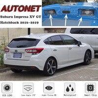 AUTONET GT Backup câmara de Visão Traseira Para Subaru Impreza XV Hatchback 2016 2017 2018 2019 Visão Noturna placa de licença da câmara