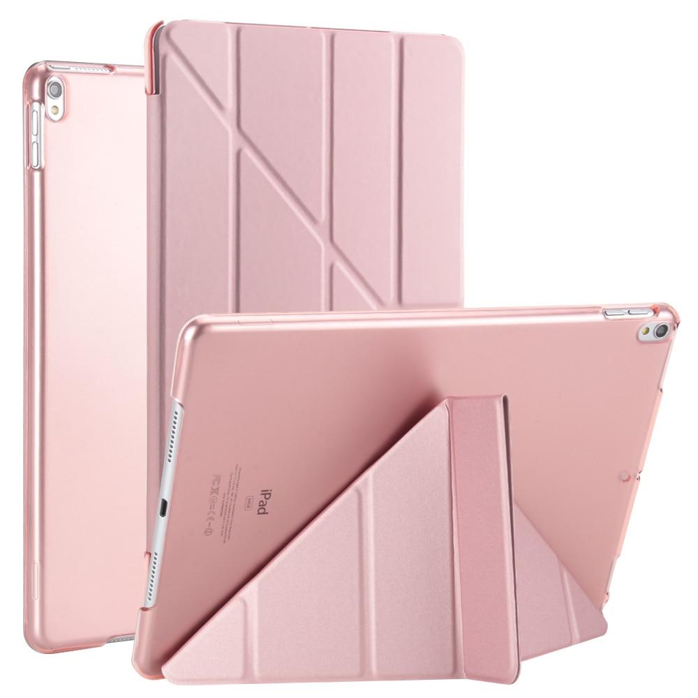 Para Apple iPad Air 3 funda para iPad Pro 10,5 pulgadas Funda de cuero de PU con múltiples pliegues funda trasera con soporte
