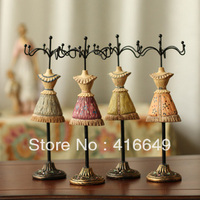 Free Shipping Wholesale Fashion Princess Dress Model Jewelry Holder Accessories Rack Jewelry Necklace Rack