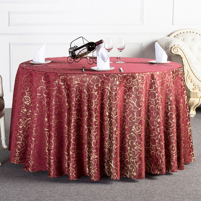 Multiple Sizes Design Gold Floral Party Table Cloth Wedding