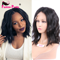 "Natural Wave Peruvian Virgin Human Hair Lace Front Bob Wig Glueless Short Full Lace Human Hair Wigs 8""-14"" For Black Women"