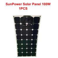 100W flexible solar panel, soft roof charging board, car electric car, solar caravan power generation system