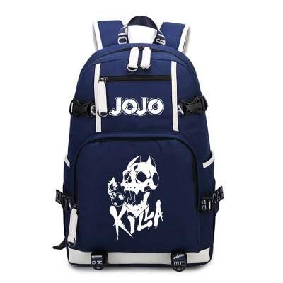 JoJo s Bizarre Adventure Backpack Jojo Cosplay Anime Kira Yoshikage Kujo Jotaro Canvas Bag Schoolbag Travel