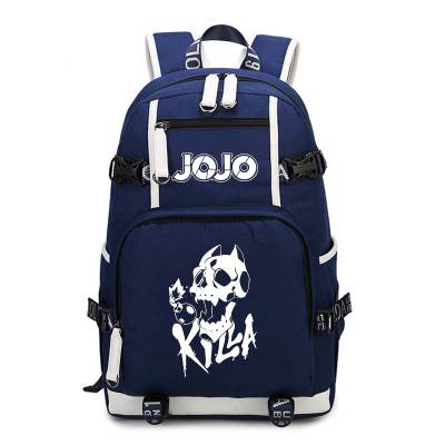 JoJo's Bizarre Adventure Backpack Jojo Cosplay Anime Kira Yoshikage Kujo Jotaro Canvas Bag Schoolbag Travel Bags