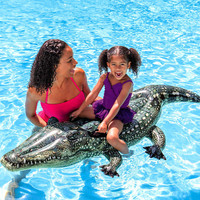 Crocodile PVC floating children water inflatable floating seat summer swimming giant inflatable pool toy
