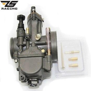 ZS Racing a-class calidad motocicleta PWK Keihin 28 30 32 34mm Carburador keihin Carburador piezas de carreras con Power Jet