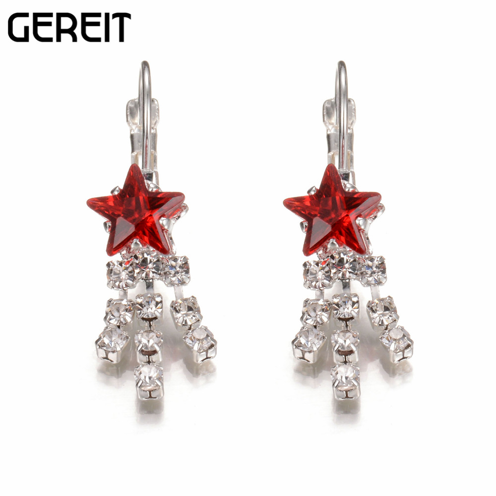Costume Jewelry Silver Plated Austrian Crystal Star Drop Earrings Unique  Design Women Earrings Fashion Jewelry Brincos