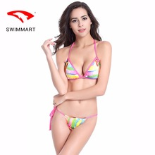 купить SWIMMART bikini sexy print Brazilian lace swimsuit women bikini push up swimming suit for women bikini push up bathing suit wome по цене 599.9 рублей