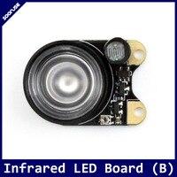 אינפרא אדום LED לוח (B) הוספת ראיית לילה פונקצית כדי פטל Pi מצלמה (e) (f) (H) אור חישה אינפרא אדום LED