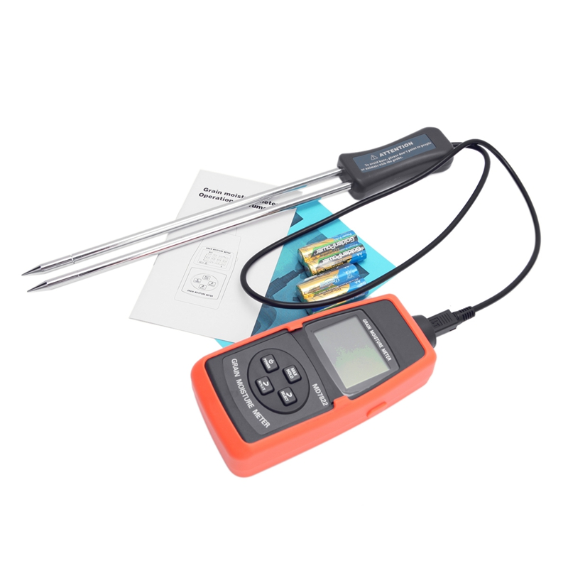 Digital Grain Moisture Meter 2%~30% Portable Grain Moisture Tester LCD Backlight Contains Wheat Corn Rice Humidity Tools