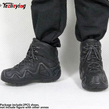 ZYTOYS 1/6 Scale Clothing Accessories Soldier Military Combat Boots Shoes LOWAZEPHYR Black Model Hollow for 12male ActionFigure