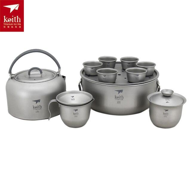 Cheap Keith 1000ML Titanium Tea Set Camping Cup 365g Ti3900