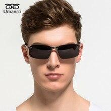 Umanco Mens Retro Polarized Sunglasses Men Vintage Fashion Metal Mirror Sun Glas