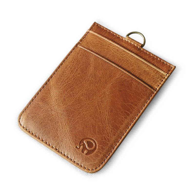 Neck Wallets 100% Genuine Leather Cowhide Card Holders Brown color ID Card Folders Accept Customized Credit Card Covers pu leather menu holder restautant menu covers custom leather folders pvc page with high quality accept customized order