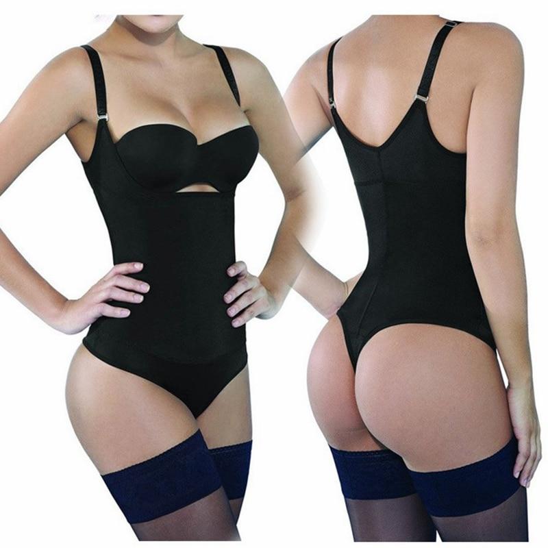 Women Body Shaper Bodysuit Push Up Corset Butt Lift Slimming Waist Trainer Corrective Compression Shapewear