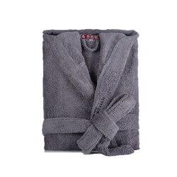 Мужской халат, зимний, с капюшоном, толстый, хлопковый, длинный, женский, мужской, Plsu, размер XXL, теплый, Kinmono, халаты, удобный, серый, белый, банн...
