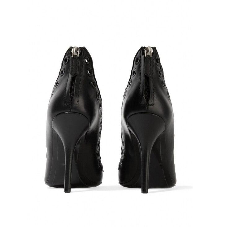 Pompes Bande Black Sexy Taille D'été Gladiateur 2019 Mode Talons Bout Étroite Élégant Parti Stilettos Chaussures Grande De Pointu Femmes vwUHq6