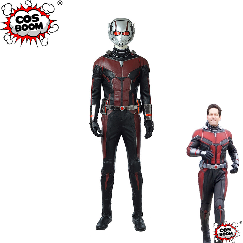 COSBOOM Ant-Man Costume Movie Ant-Man and the Wasp Scott Lang Superhero Ant-Man Halloween Cosplay Costume Ant-Man Suit