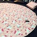 Juguete del bebé estera manta de algodón KT gato animal lindo circular niños climb pad reciben bolsa swaddle recién nacido apoyos de la fotografía regalo