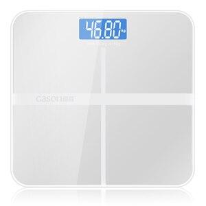 Image 5 - A1 دقيقة الحمام مقياس للجسم الذكية الإلكترونية الرقمية الوزن الرئيسية الصحة التوازن تشديد الزجاج شاشة الكريستال السائل 180 كجم/50 جرام