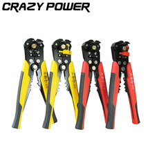 Crazy Power Tool 3 in 1 Self Adjustable Automatic Cable Wire Stripper Crimping Plier Crimper Terminal Cutter Tool  AT2203