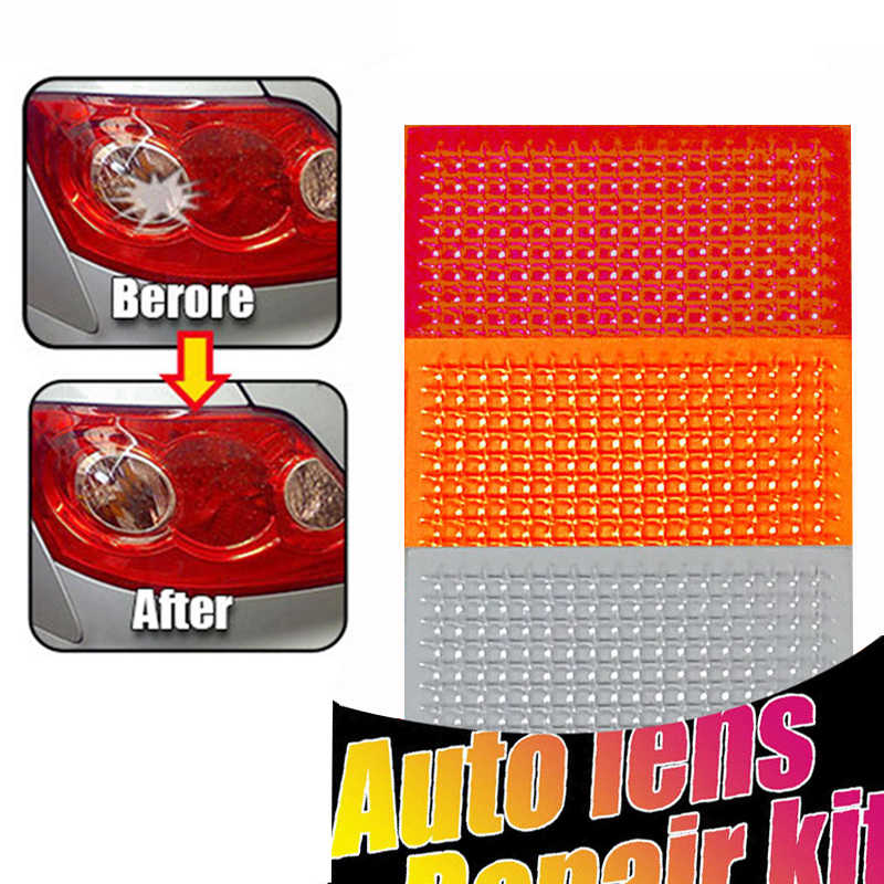 DIY Grid Pattern Auto Lens Repair Kit Quick Fix A Cracked