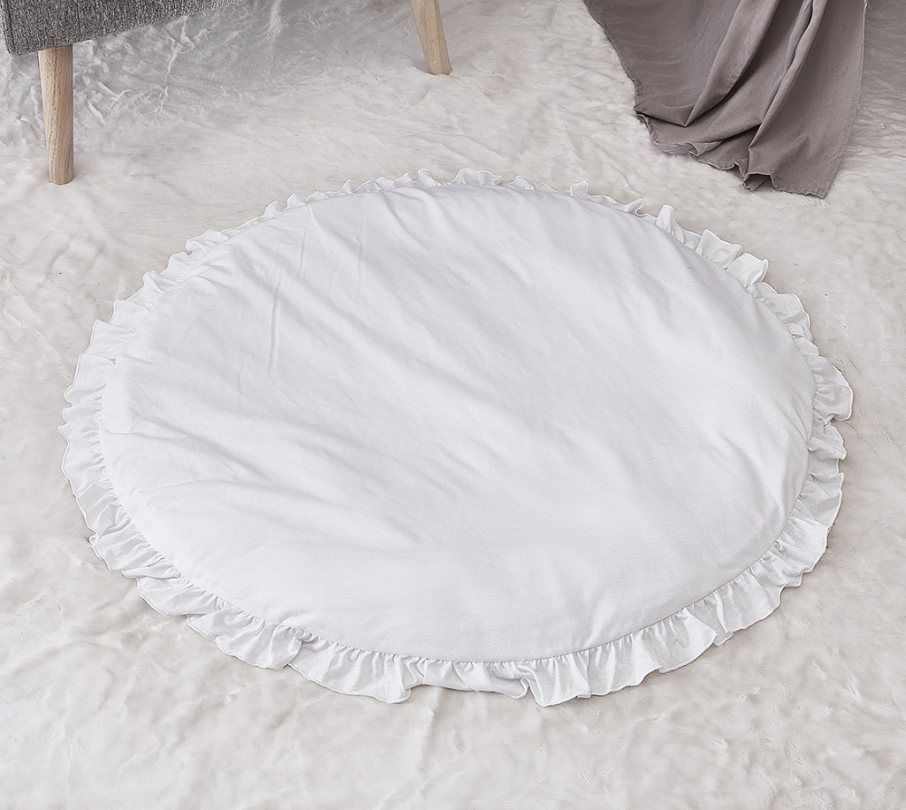 100cm Round Shape Soft Solid Winter Baby Toddler Infant Playing Mat Crawling Pad Baby Cushion Baby Sleep Nest  Indoor Playground