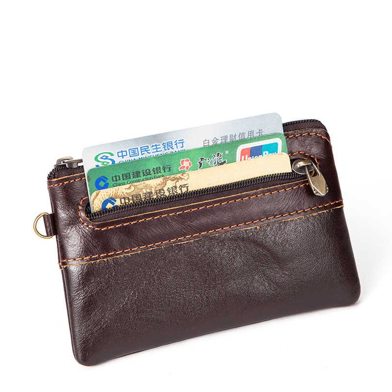 20694bd32e33 ... MVA из натуральной кожи Для мужчин Кошельки Мини кожаный бумажник  портмоне для карты Малый/тонкий ...