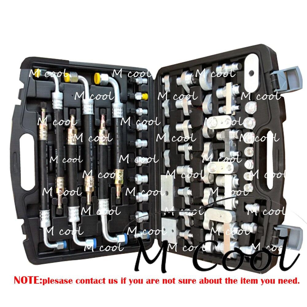 Haute qualité tout nouveau Auto climatiseur outils de fuite Auto ac compresseur condenseur évaporateur outils de réparation connecteur de branchement