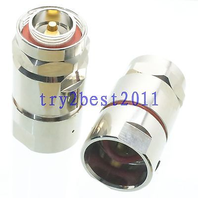 1pce Connector 7/16 DIN plug pin clamp 7/8 cable RF COAXIAL straight asus pce n15 300мбит с