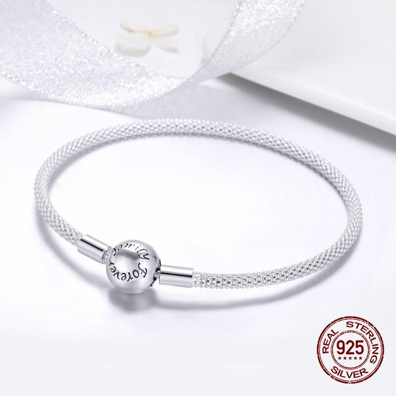 Image 3 - fit original Pandora beads pendant making woman authentic 100%  925 sterling silver charm bracelet Snake bracelet jewelryCharm  Bracelets