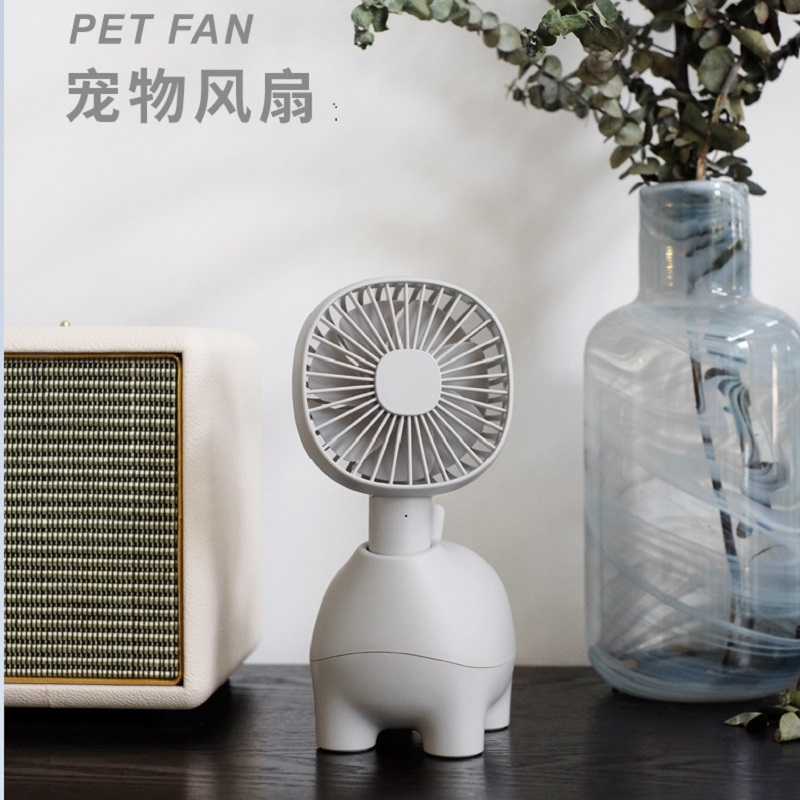 2018 Handheld Cartoon USB Fan Cooler Portable 3 Speed Adjustable Mini Fan 1500mAh Rechargeable Small Desk Desktop Cooling Fan dmwd mini portable handheld usb air conditioning fan battery rechargeable led light cooling fan 3 gear speed desktop lamp cooler