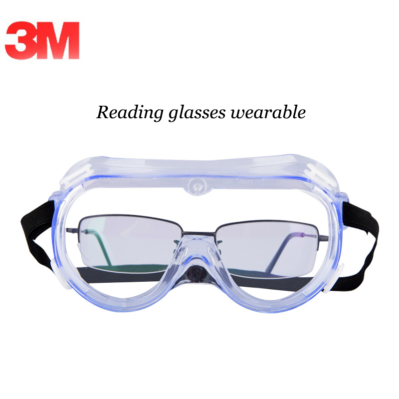 3M Safety Goggles 1621 Reading Glasses Wearable Clear Lens Lab Glasses Anti Dust/Splash/UV Safety Goggles G82302 3m 10196 laboratories safety clear glasses dust wind sand wind mirror goggles splash g82301