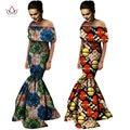 Африканской Печати Платья С Плеча Wrap Dress Dashiki Африканских Печати Уникальные Этнические Mermaid Dress Плюс Размер Женская Одежда WY736