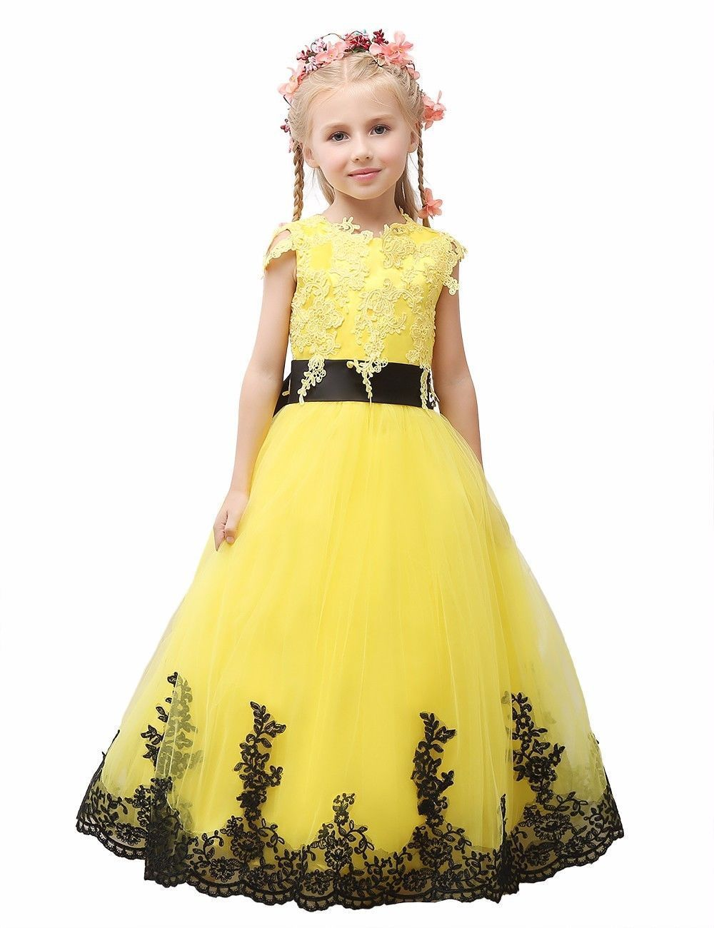 Flower Girl Dresses for Wedding Prom BallGown Pageant Party Birthday New Year