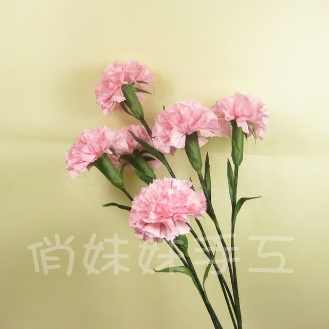 Paper Paper Flower Origami Hand Crumpled Paper Diy Kits Carnations