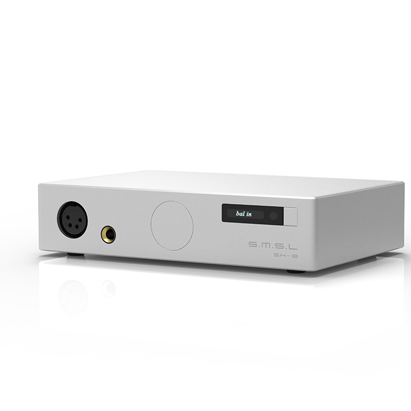SMSL SH-8 Full Balanced Desktop HIFI Headphone Power Amplifier AMP High Performance with RCA/XLR Intput 6.35mm/Balanced Output