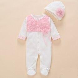 ملابس لحديثي الولادة رومبير للبنات 2018 طقم صيفي من القطن بذلات الزهور حذاء فضفاض للأطفال لطيف بعمر 0 3 6 أشهر ملابس للبنات